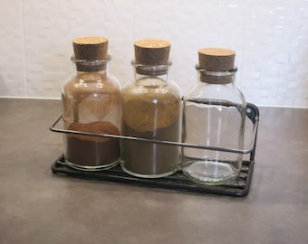 Three jar spice rack