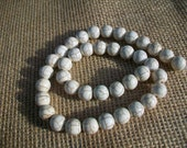 Ivory Howlite Veins Turquoise Gemstone Beads  10MM