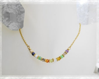 Signature Gemstones of Jerusalem Minimalist Inspirational Necklace