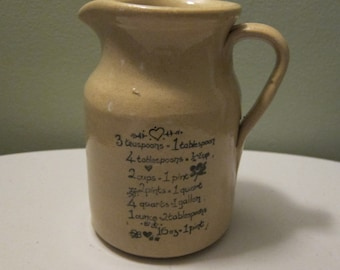 Vintage Beige Pottery Pitcher by Moira Pottery Co. Ltd in England