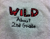 Crew neck sweatshirt wild about your grade