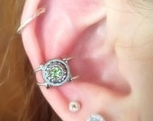 Small Peridot Ear Cuff