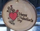Valentine's Day decor | ASPEN Wood Slice Ornaments | Wood Burned Ornaments | Valentine gift