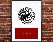 Game of Thrones - House Targaryen print 11X17""