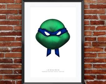 """TMNT Leonardo Print 11X17"""""""