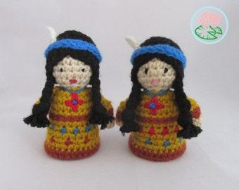 Amigurumi Native American Indian Doll (Digital Download)
