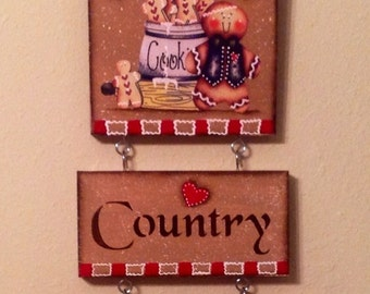 Gingerbread Wood Sign Gingerbread Kitchen Housewarming Gift Country Kitchen Kitchen Decor Home Decor Ginger Collector Ready to Ship Home