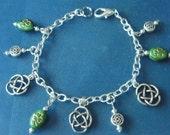 OOAK! St. Patrick's Day Charm Bracelet, in Silver! Shamrocks, Celtic Knots, Irish, Good Luck Bracelet, Charm Bracelet, Teen, Woman's Jewelry