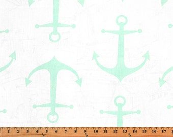 Nautical Nursing Pillow Cover - Mint Anchors and Minky Boppy Cover