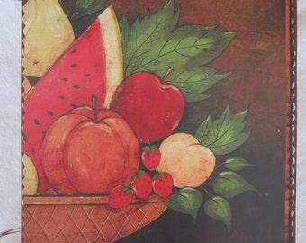 Basket of Fruit wooden book