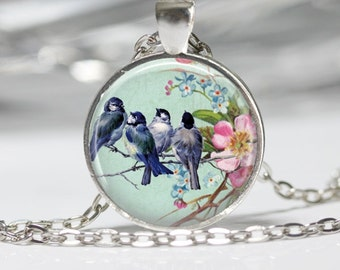 Birds on a Branch Jewelry Bird Necklace Wearable Art