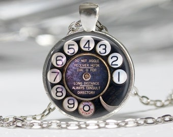 Steampunk Jewelry Steampunk Telephone Dial Necklace Vintage Phone