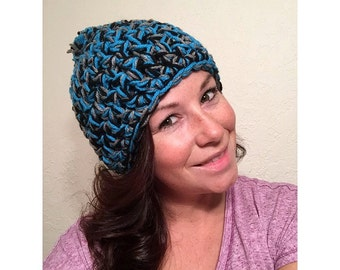 Crocheted Hat - Thick - Multi Color