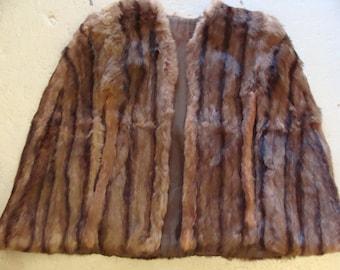 GENUINE FUR CAPE capelet shawl vintage