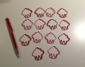 Shaped Paper Clips - Cupcakes