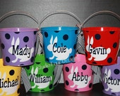 5 QUART Personalized Easter Bucket - - -  Assorted Colors/Designs