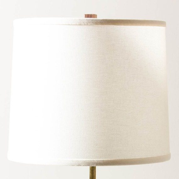 lamp shade natural linen tall. Black Bedroom Furniture Sets. Home Design Ideas
