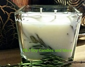 14oz Double Wick 100% SOY Candle in Sea Salt Rosemary. Made To Order. All Natural. Long Burning and Eco Friendly.