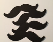 Moustache die cuts/Cupcake toppers/Centerpieces
