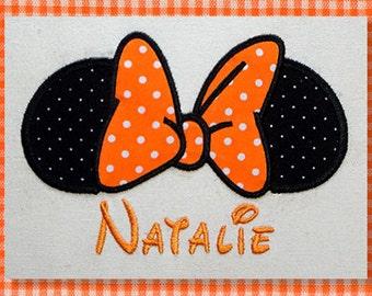 Instant Download - Minnie mouse bow 138 - Machine Embroidery Design - Applique Design