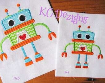Robot 03 Machine Applique Embroidery Design - 4x4, 5x7 & 6x8