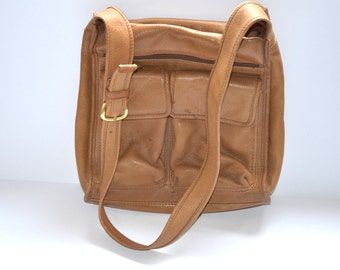90s vintage honey tan pebbled leather  purse by Fossil shoulder  bag Back to school