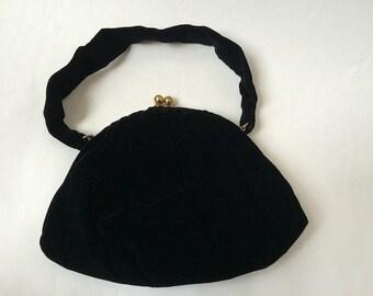 Vintage Small Velvet Purse Handbag