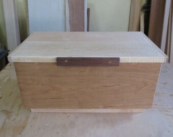Large Wooden box of Cherry, Maple and Walnut