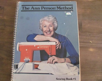 Vintage Ann Person Method Sewing Book #1