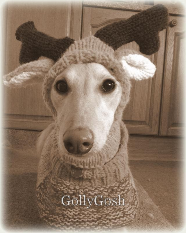 PDF Knitting Pattern for a Reindeer Antler Hat by ohmygoshmygolly