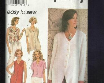 Simplicity 9506 Ladies V Neck Blouse   Size 12..14..16 UNCUT