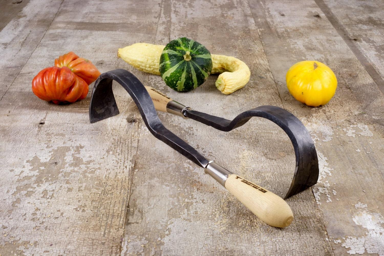 Garden tool hand forged heavy duty hand hoe blacksmith made for Heavy duty garden tools