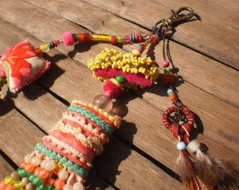 Dreamcatcher Dangle With Beads And Yummy Textiles
