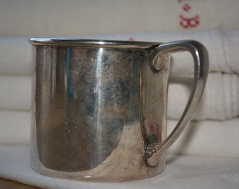 Antique silver plate childs cup, Vintage Oneida silver-plate, Vintage Home Decor