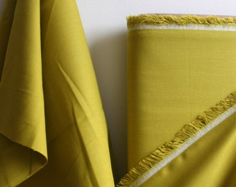 Organic Solid Fabric in Grass from the Cirrus Solids Collection from Cloud9 Fabrics. - ONE  HALF YARD Cut