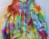 18 Month Infant Marbled Rainbow Tie Dye Empire Bubble Romper