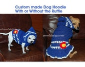 Colorado Dog Hoodie - Dog Sweater  - Dog Hoodie - Custom made for your Small Dog
