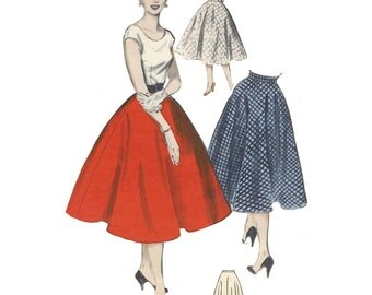 1950s Style Full Circle Skirt Custom Made in Your Size From a Vintage Pattern