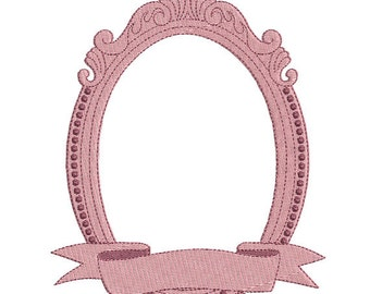 Instant download oval frame embroidery design machine