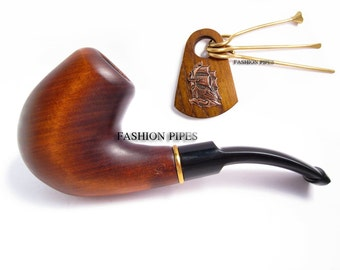 """NEW Set pipe """"Bosun"""" & Tamper Ship, Tobacco pipe Smoking Pipes/Pipe Wooden pipe Classic Pipe for Smokers, Best price in FPS"""