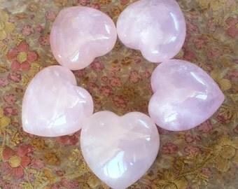 Translucent Rose Quartz heart