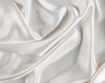 "45"" Wide 100% Silk Charmeuse Eggshell"