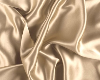 "45"" WIde 100% Silk Charmeuse Antique Gold By the Yard"