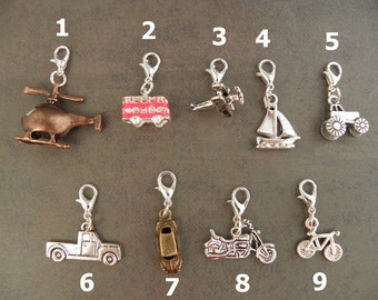 VEHICLE Charm - For The Create Your Own The Walking Dead Zombie Apocalypse Charm Bracelet - Choose 1 - Zombie Survival Kit Jewellery