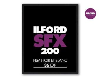 Ilford SFX Photo Film Screenprint