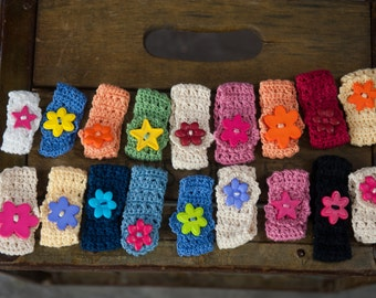 Crocheted bracelets/ heart bracelets/ star bracelets/ little girl bracelets