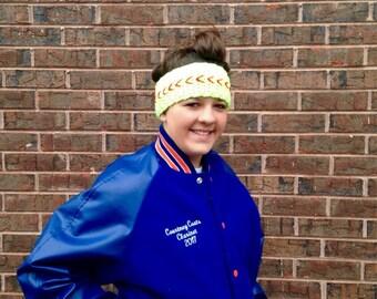 Crochet Softball Headband, Headwrap, Crochet Headband, Headwrap, Fall Accessories