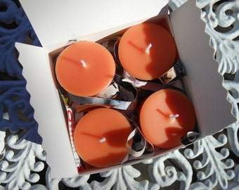 Vanilla Lace Soy Replacement Votive Candles 4 Pack Gift Box