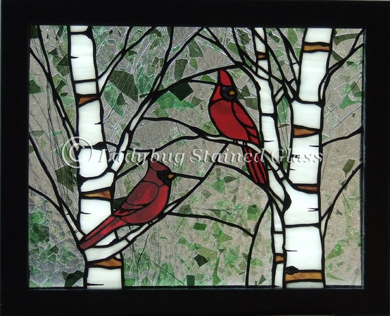 Pdf Pattern For Stained Glass Panel Cardinals In The