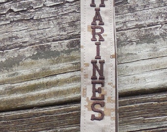 US Marines Embroidered Lanyard, Military Lanyard , Tan Marpat Embroidered Military Lanyard, Armed Forces